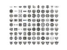 Diamonds isolated on white background. Usable for catalogue of gemstones, cites etc Royalty Free Stock Image