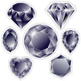 Diamonds labels Stock Image