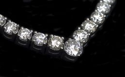 Diamonds Necklace Stock Photos