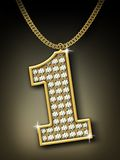 Diamonds necklace. With golden chains Royalty Free Stock Images