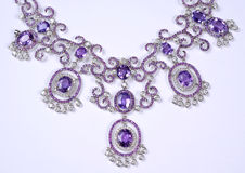Diamonds necklace Royalty Free Stock Images