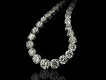 Diamonds necklace close up Royalty Free Stock Photography