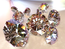 Diamonds path included stock image