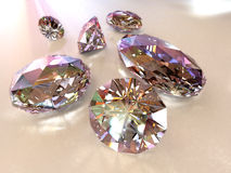 Diamonds - path included. Diamonds on color background path included Royalty Free Stock Photo