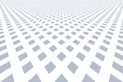 Diamonds pattern. Perspective view. Royalty Free Stock Photography
