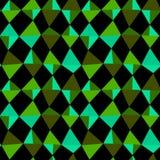 Emerald green diamonds seamless pattern Stock Photography