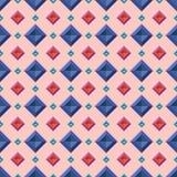 Diamonds pattern. Seamless pattern with random color diamonds Royalty Free Stock Photography