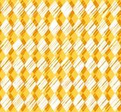 Diamonds, pattern, shading, yellow, seamless background, vector. Royalty Free Stock Photos