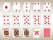 Diamonds Playing Cards Set Stock Photos