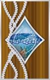 Diamonds poker card ship porthole Stock Image