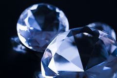 Diamonds - precious gift Stock Image