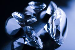 Diamonds - precious gift Stock Photo