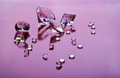 Diamonds on purple Royalty Free Stock Images