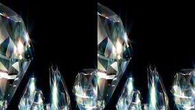 Diamonds. Real 3D Stereoscopic. Stock Image