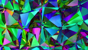 Diamonds Refraction Background Looped. HD 1080 stock video footage