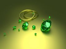 Diamonds with rings Royalty Free Stock Photo