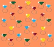 Diamonds rings Royalty Free Stock Photos