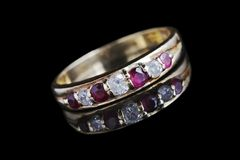 Diamonds and rubies Stock Photography
