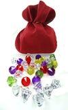 Diamonds ruby topaz emerald gem stones crystals Royalty Free Stock Photo
