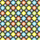 Diamonds Seamless Colorful Pattern Stock Image