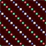 Diamonds seamless pattern Royalty Free Stock Image