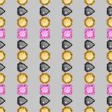 Diamonds seamless pattern Stock Photos