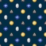 Diamonds seamless pattern Stock Photo