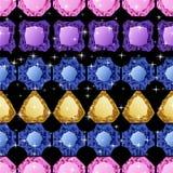 Diamonds seamless pattern Stock Images