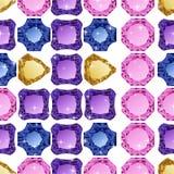 Diamonds seamless pattern Royalty Free Stock Photography