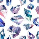 Diamonds seamless pattern Royalty Free Stock Photos