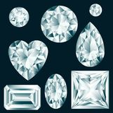 Diamonds set Royalty Free Stock Image
