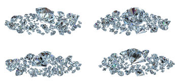 Diamonds set different view Stock Photography