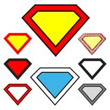 Diamonds shapes royalty free illustration