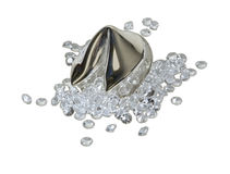 Diamonds Spilling out of Fortune Cookie Royalty Free Stock Photography