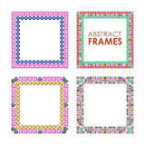 Diamonds square frame set,. Diamonds square frame set. Vector illustration jewelry. Abstract vector borders on white background vector illustration