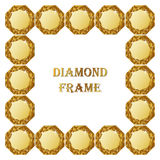 Diamonds square frame Royalty Free Stock Image