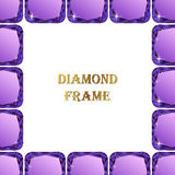 Diamonds square frame Stock Images