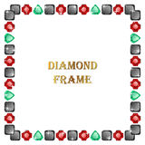 Diamonds square frame Stock Image