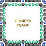Diamonds square frame Royalty Free Stock Images
