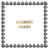 Diamonds square frame. Vector illustration jewelry. Abstract vector border on white background vector illustration