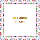 Diamonds square frame Royalty Free Stock Photos