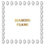 Diamonds square frame Royalty Free Stock Photography