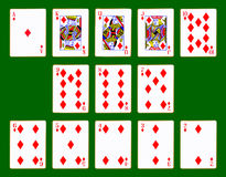 Diamonds Suit Of Cards Royalty Free Stock Photo
