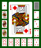 Diamonds suit playing cards Stock Images