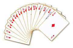 Diamonds Suit Playing Cards Royalty Free Stock Photos