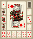 Diamonds suit playing cards Royalty Free Stock Image