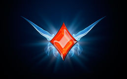 Diamonds, symbol of Poker Royalty Free Stock Images