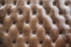 Diamonds texture of aged leather sofa Royalty Free Stock Image