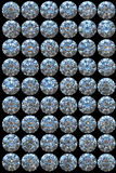 Diamonds top views Royalty Free Stock Photo