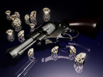 Diamonds and violence Royalty Free Stock Photo